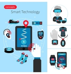 Smart Technology Concept Composition vector