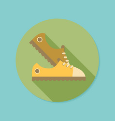 Sneakers flat icon with long shadow eps10 vector