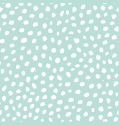 spotted hand drawn seamless pattern vector image