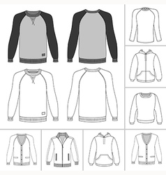 street fashion clothing 19 vector image