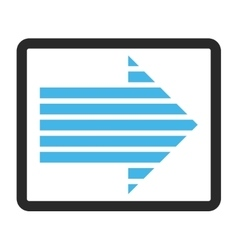 Stripe Arrow Right Framed Icon vector