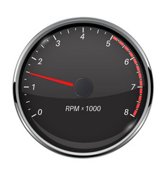 Tachometer black car gauge vector