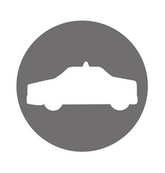 Taxi car silhouette icon vector