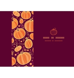 Thanksgiving pumpkins horizontal frame seamless vector image