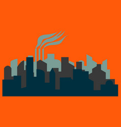 The silhouette of the city in a flat style vector