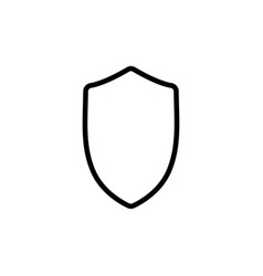 Thin line security shield icon vector