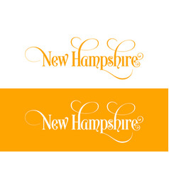 typography of the usa new hampshire states vector image