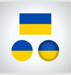 ukrainian trio flags vector image