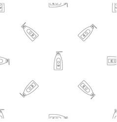 Uv dispenser cream pattern seamless vector