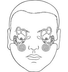 Vestibular apparatus vector image