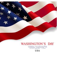 washingtons day flag usa vector image