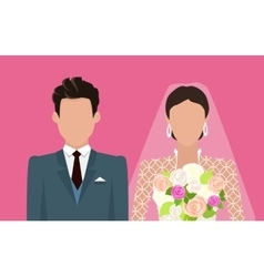 Wedding Day Web Banner Newlyweds Couple Design vector