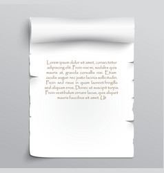 White sheet of papyrus vector