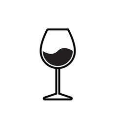 wine glass icon alcohol beverage wineglass symbol vector image