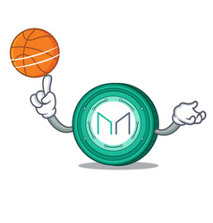 With basketball maker coin character cartoon vector