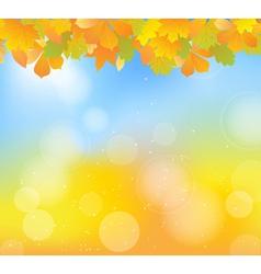 autumn blue top vector image vector image