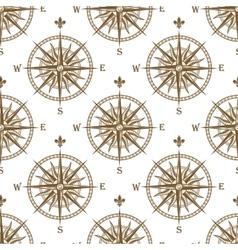 Compass seamless background pattern vector image