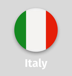 italy flag round icon with shadow vector image vector image