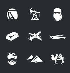 set of uae icons vector image vector image
