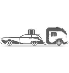 vintage camping car vector image