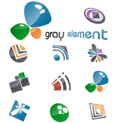 gray elements vector image vector image