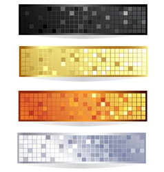 horizontal checkered banner vector image vector image