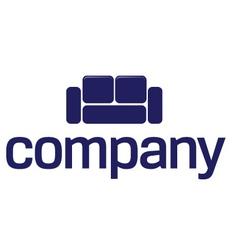 sofa logo furniture company vector image vector image