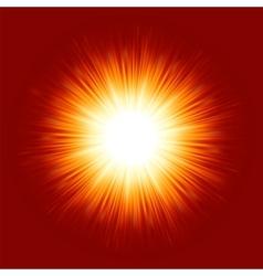 sunburst rays background vector image vector image
