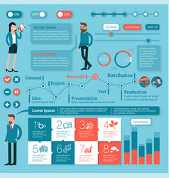 time line flat design infographics template vector image