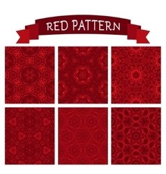 abstract red christmas background set vector image vector image