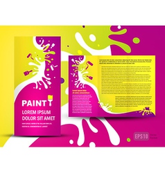 brochure folder paint colorful element design vector image vector image