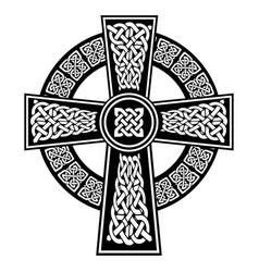 celtic knot in the cross with surrounding ring vector image vector image