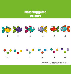 educational children game match by color vector image vector image