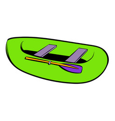 green inflatable boat icon icon cartoon vector image
