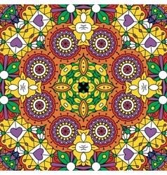 Beautiful full frame yellow geometric design vector image vector image