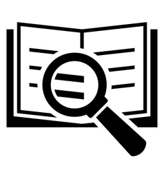 Book search icon vector image