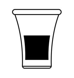 glass silhouette vector image