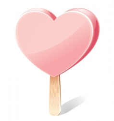 heart shaped ice cream vector image vector image