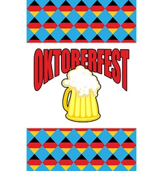 Mug of beer for Oktoberfest Character Beer vector image vector image