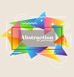 abstract background with gradient triangles vector image