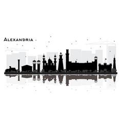 Alexandria egypt city skyline silhouette vector