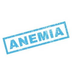 Anemia Rubber Stamp vector