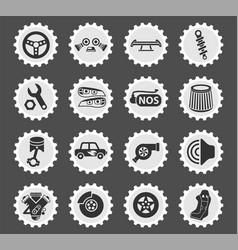 auto tuning icon set vector image