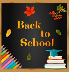 back to school background with school icons vector image