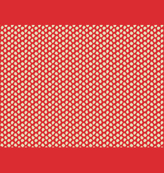 Beige hand drawn dots on red background seamless vector