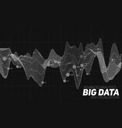 Big data grayscale visualization vector