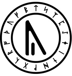 black and white version of yr rune vector image