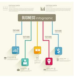 Business abstract flowchart concept vector