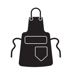 Chef kitchen apron for cooking flat icon for apps vector