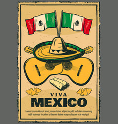 cinco de mayo mexican holiday sketch poster vector image